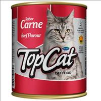Ração Top Cat em Lata Carne - 290 g