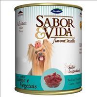 Ração Sabor e Vida para Adulto Cães Carne e Vegetais Lata - 280gr