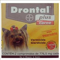 Vermífugo Drontal Plus Sabor Carne Drontal Plus Sabor Carne - 2 Comprimidos
