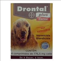 Vermífugo Drontal Plus Sabor Carne Drontal Plus Sabor Carne - 4 Comprimidos