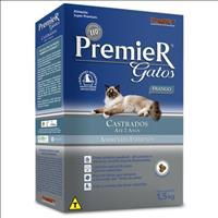 Ração Premier Pet Gatos Ambientes Internos Castrados Até 7 Anos Frango - 1,5kg