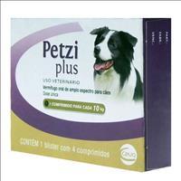 Vermifugo Ceva Petzi Plus 800 mg para Cães de 5 a 10 Kg - 4 Comprimidos