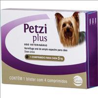 Vermifugo Ceva Petzi Plus 400 mg para Cães até 5 Kg - 4 comprimidos
