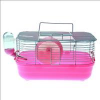 Gaiola Hamster Completa Pop Star Caninos Brancos - Rosa