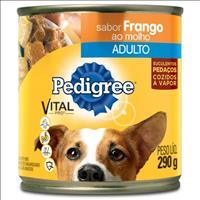 Ração Pedigree Frango Ao Molho Lata para Cães Adultos - 290gr
