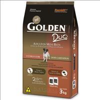 Ração Premier Golden DUO Frango à Moda Caipira e Seleção de Carnes ao Molho Mini Bits - 3kg