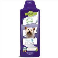 Shampoo Pet Clean 5 em 1 para Cães e Gatos - 700 ml