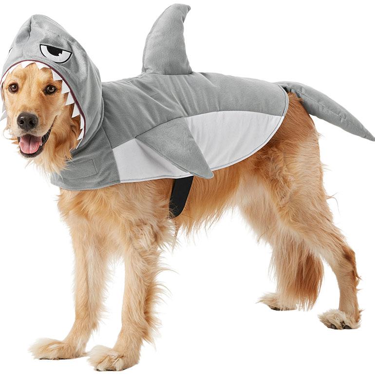 large dog costume - shark dog costume