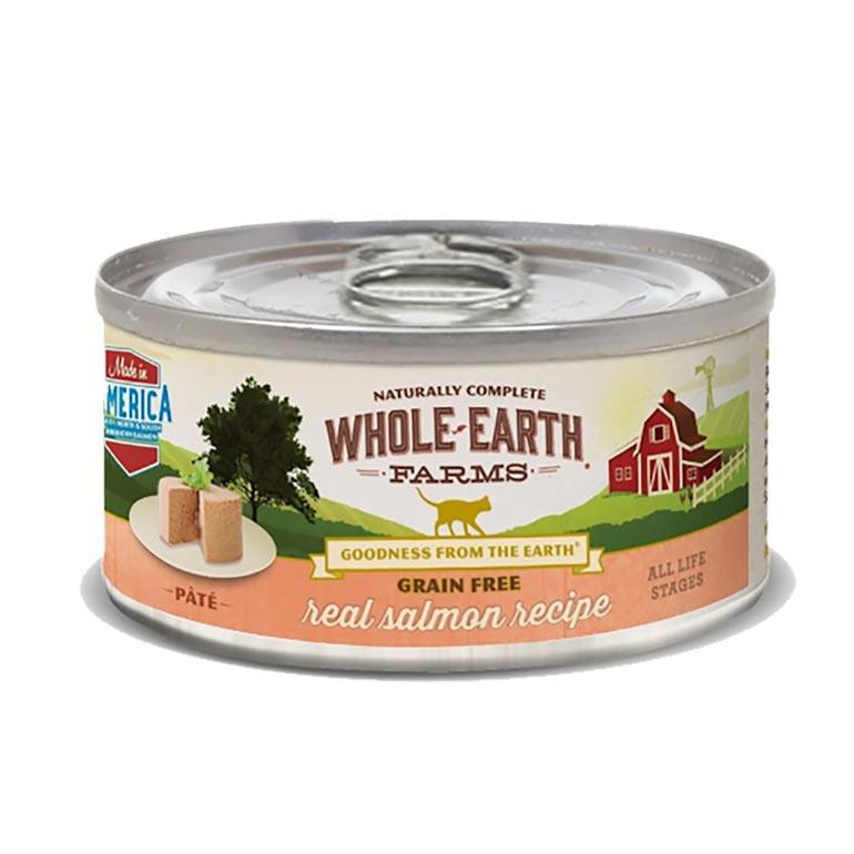 Whole Earth Farms Grain-Free Real Salmon Pate Recipe Canned Cat Food