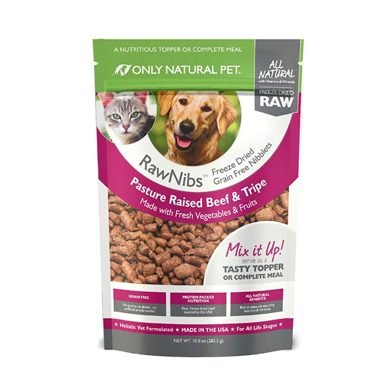 Only Natural Pet's RawNibs Freeze-Dried Dog Food