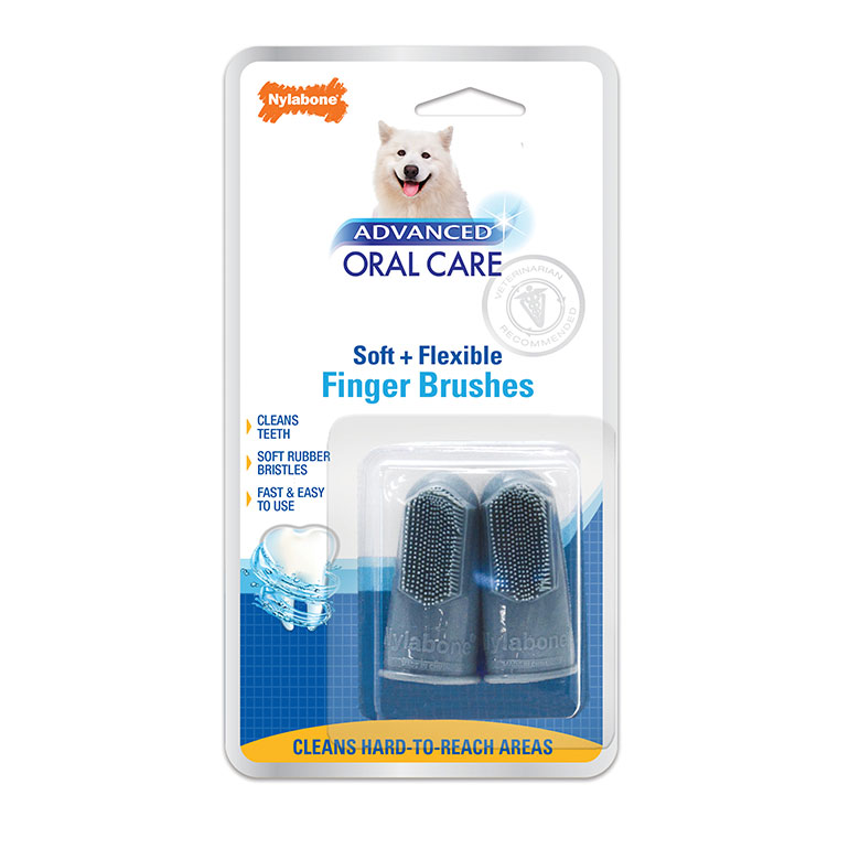 Dog Dental Care Basics - finger brush for dogs