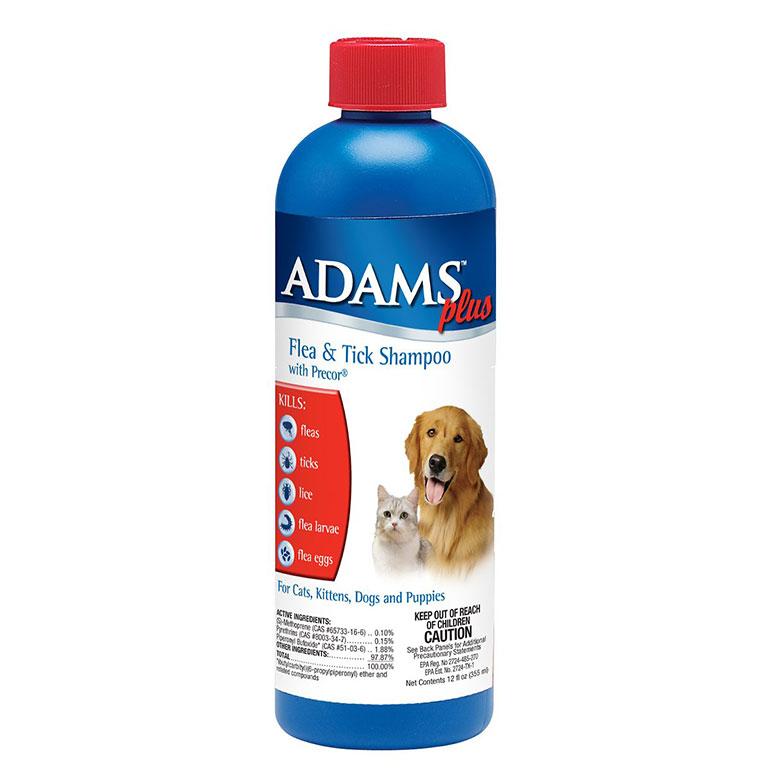 Adams Plus Flea & Tick Shampoo with Precor