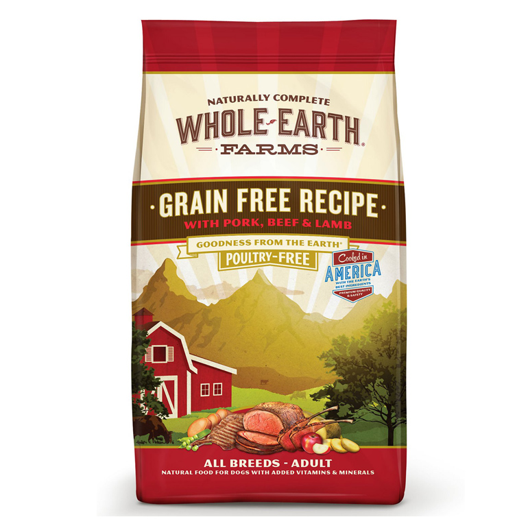 Whole Earth Farms Grain-Free Pork, Beef & Lamb Dry Dog Food