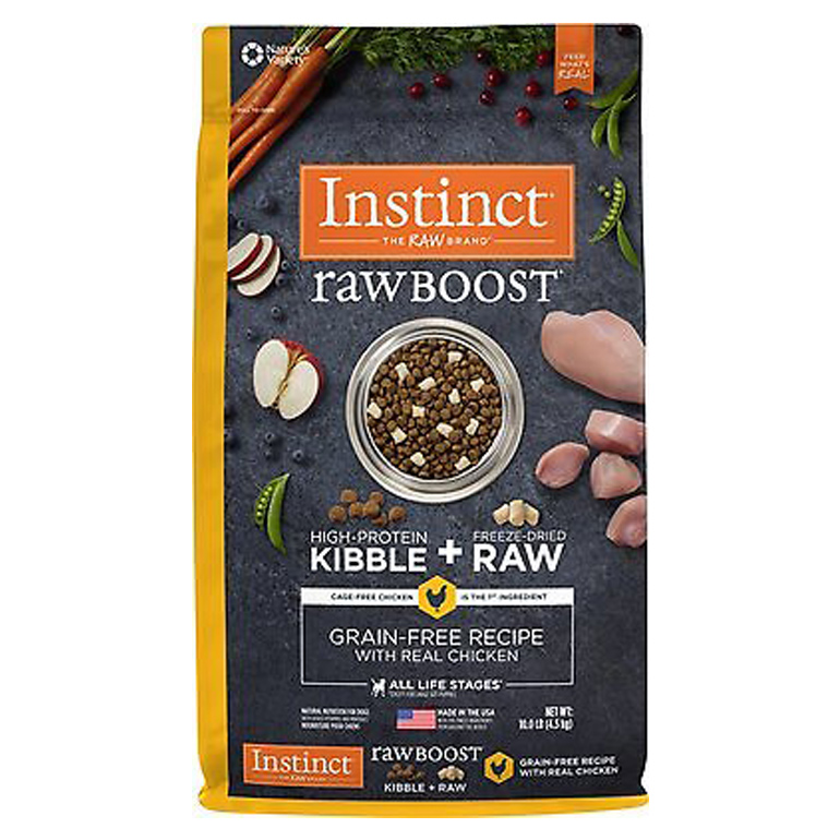 Instinct Raw Boost Mixers Chicken Grain-Free Freeze-Dried Dog Food Topper