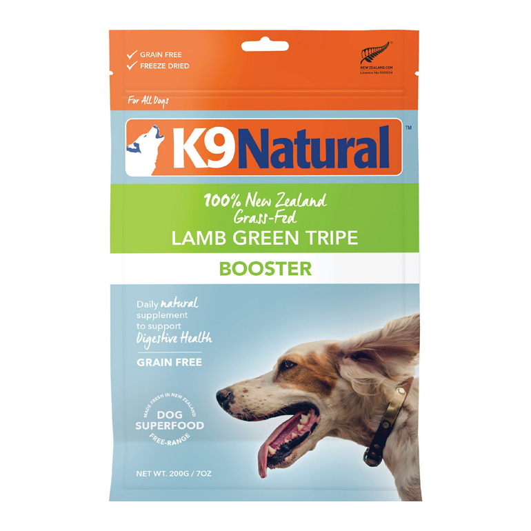 K9 Natural Lamb Green Tripe Booster Freeze-Dried Dog Food Topper