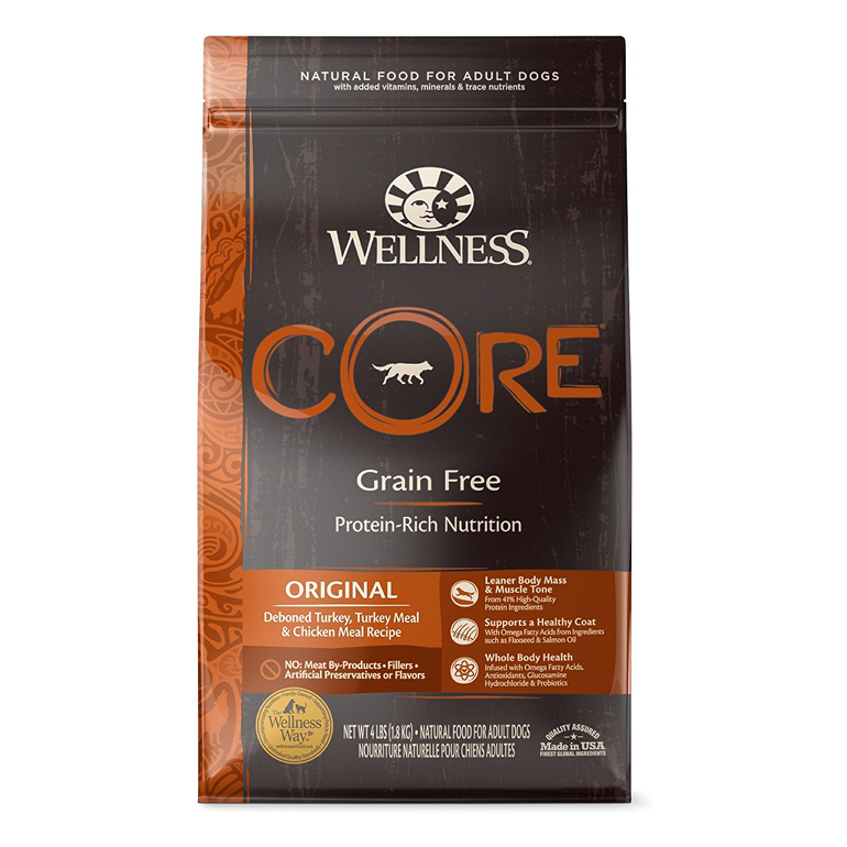 Wellness CORE Grain-Free Turkey, Turkey & Chicken Dry Dog Food
