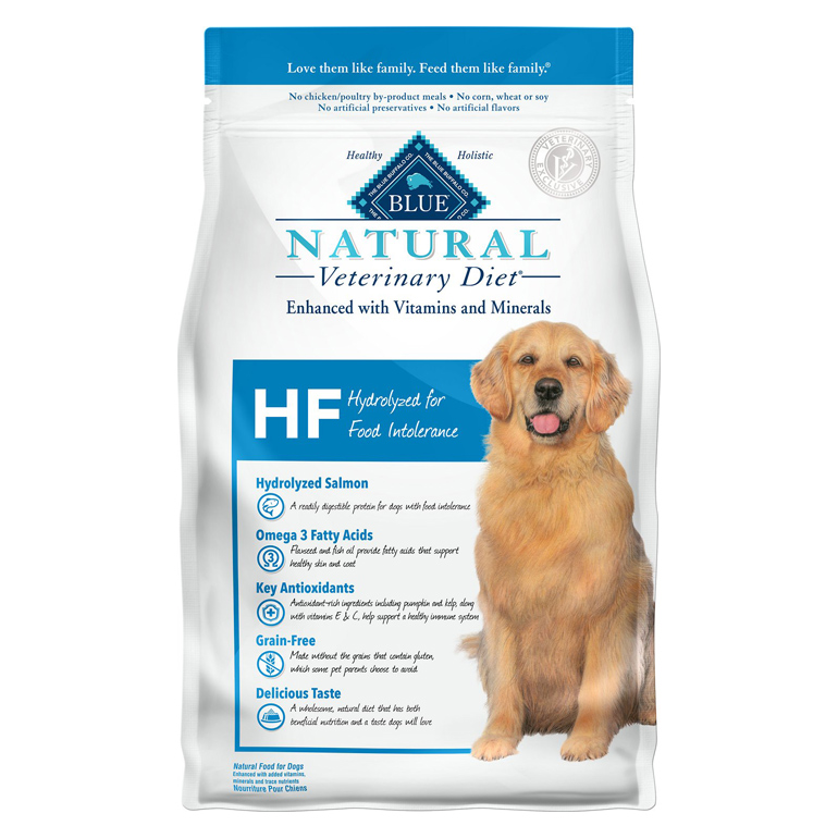 Blue Buffalo Natural Vet Diet HF Hydrolyzed for Food Intolerance Grain-Free Dry Dog Food