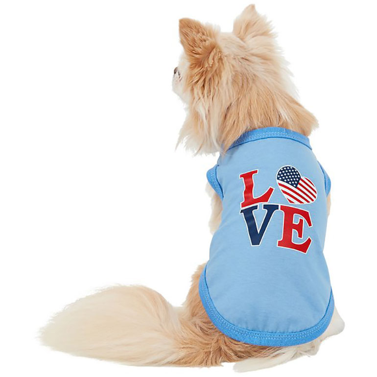 4th of July Dog Outfits - doggy tee