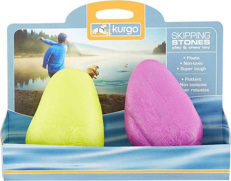 dog water toys - skipping rocks