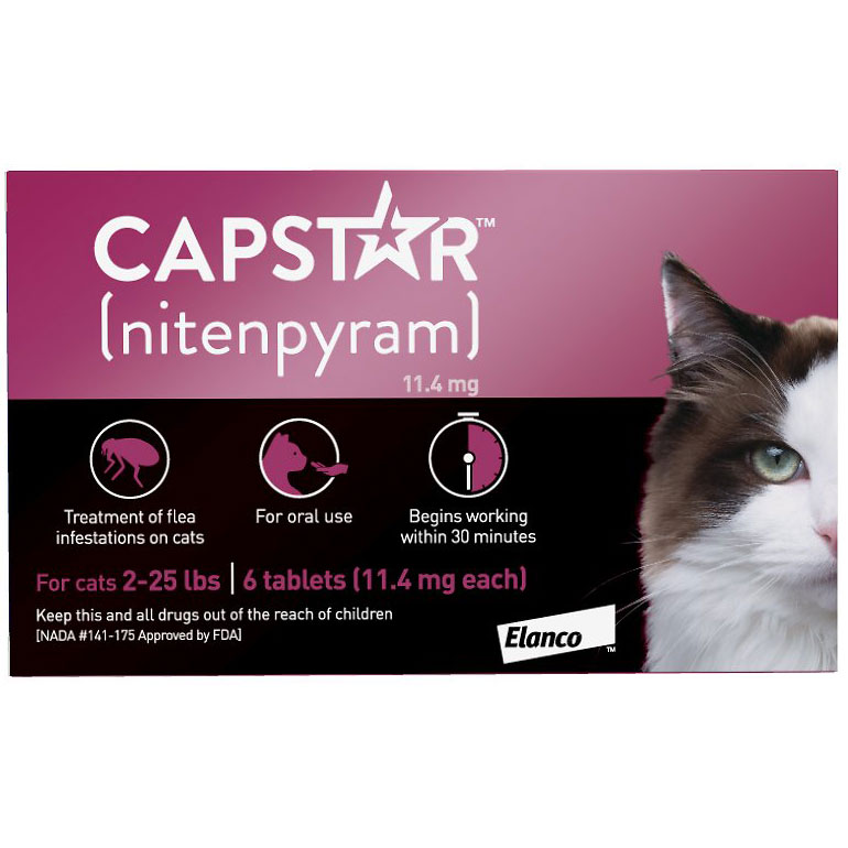 flea and tick treatment for cats -capstar