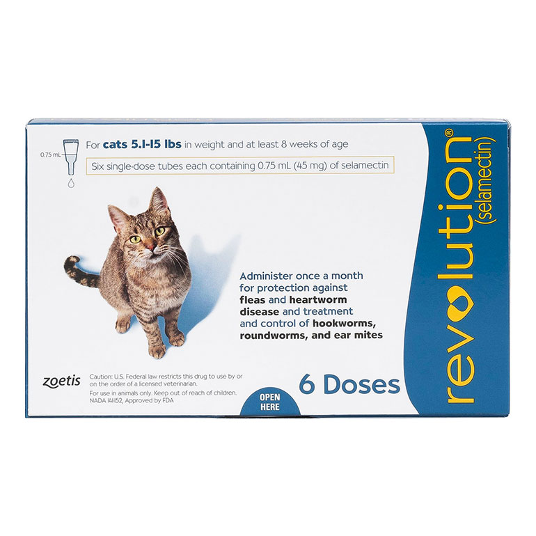Revolution Topical Solution for Cats, 5.1-15 lbs