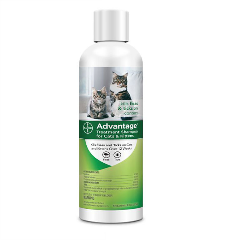 Advantage Flea & Tick Treatment Shampoo for Cats & Kitten