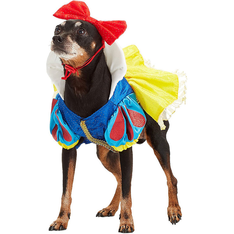 Halloween Costumes for Girl Dogs - snow white