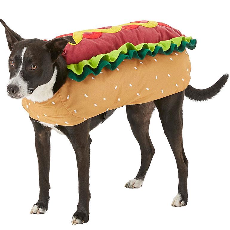 large dog halloween costumes - hot dog