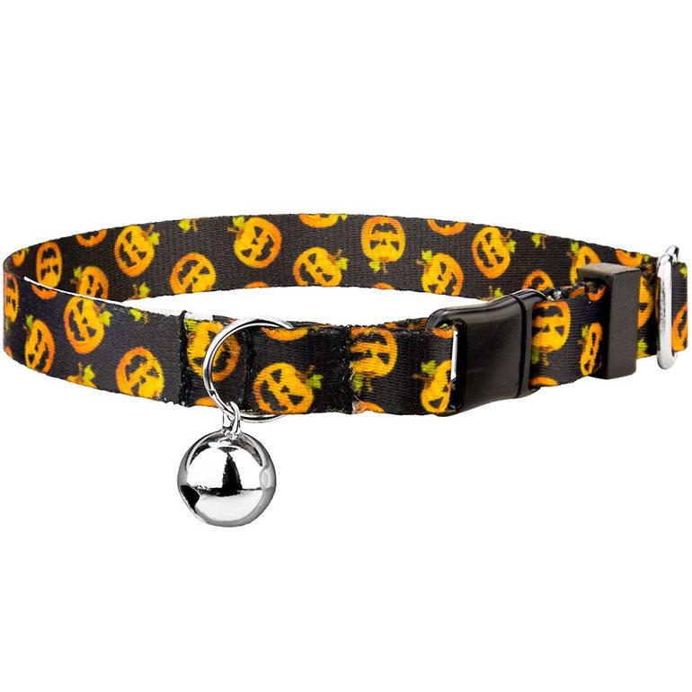 halloween cat collars - pumpkin