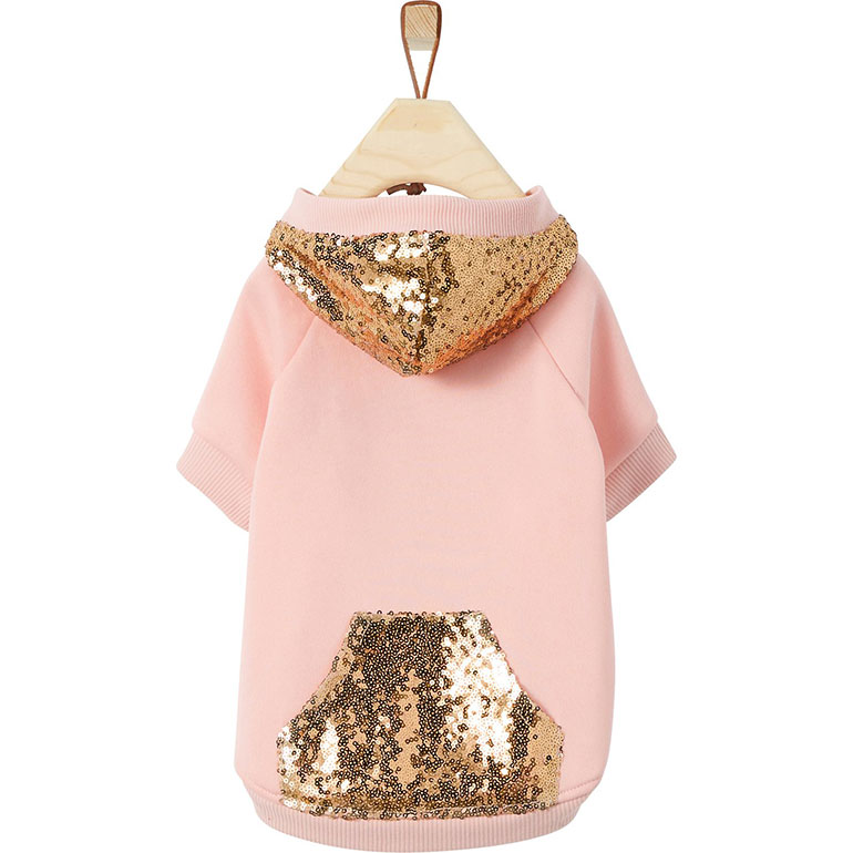 cute dog clothes for fall - sequin dog hoodie
