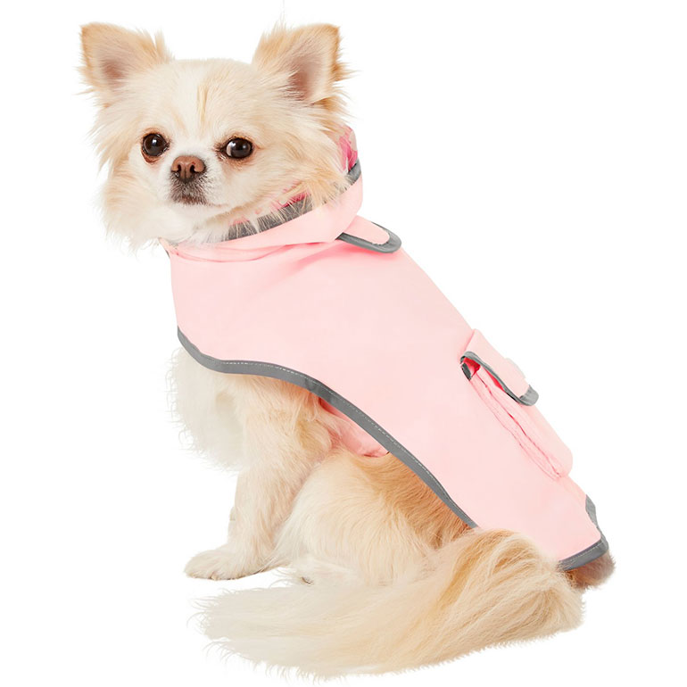 cute dog clothes for fall - reversible dog rain jacket