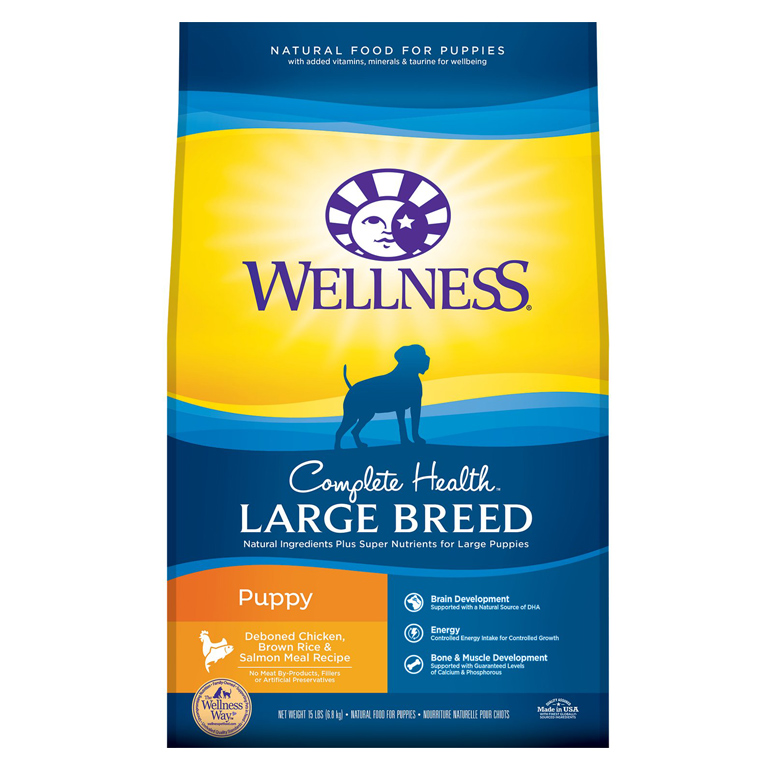 Wellness large breed puppy food