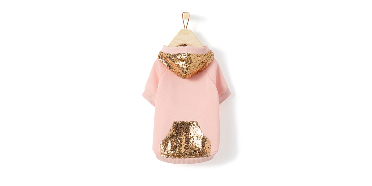 fashion for dogs and cats - sequin hoodie