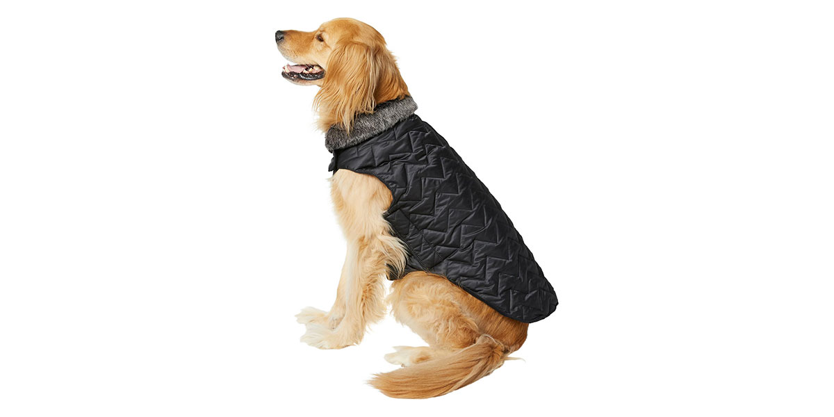 fashion for dogs and cats - chevron quilted coat