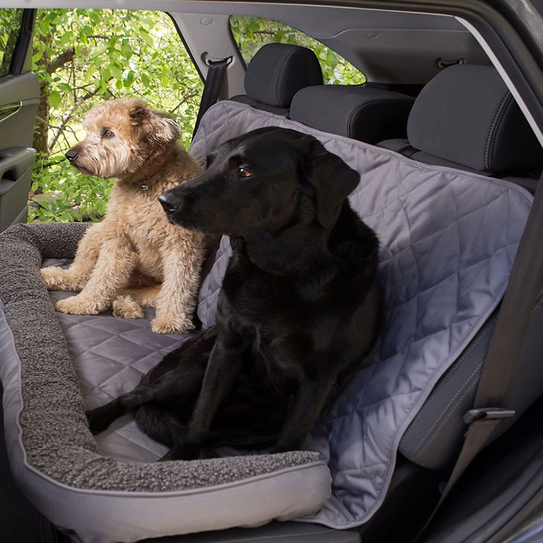 car bench seat cover -3 dog