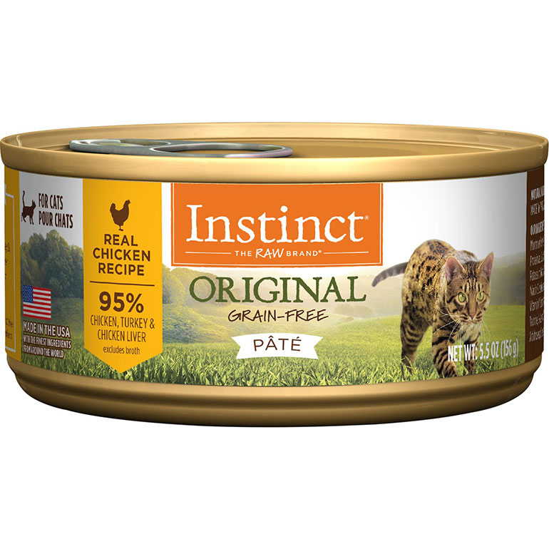 Instinct Original Grain-Free Pate Real Chicken Recipe Wet Canned Cat Food