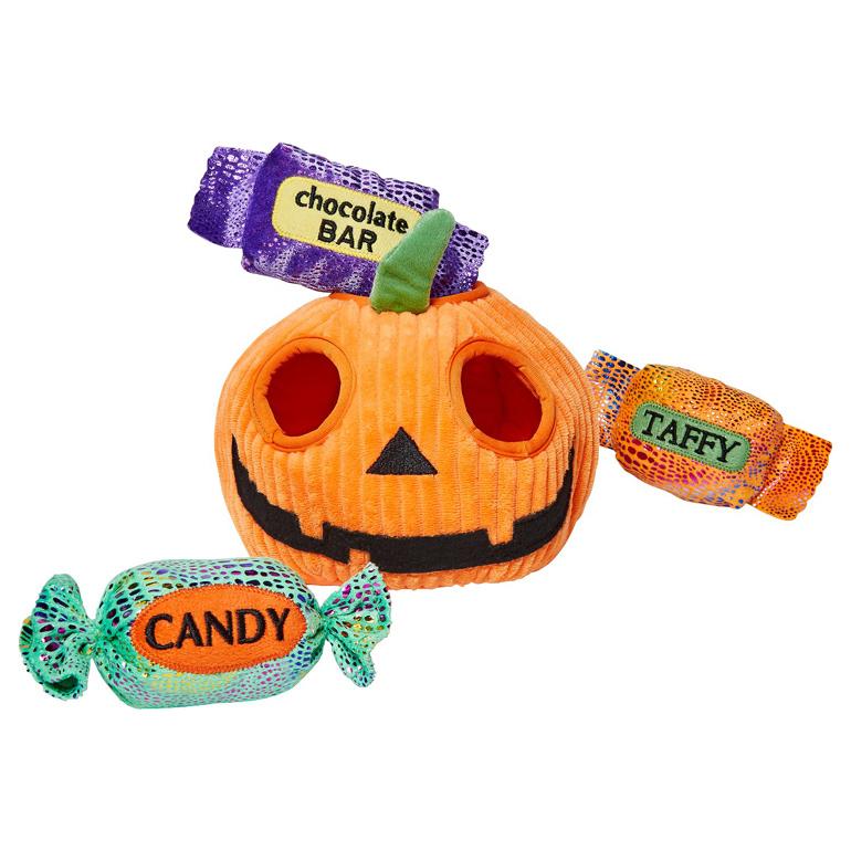 Frisco pumpkin dog toy