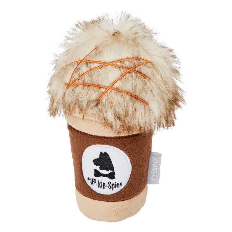 Frisco pumpkin spice latte dog toy