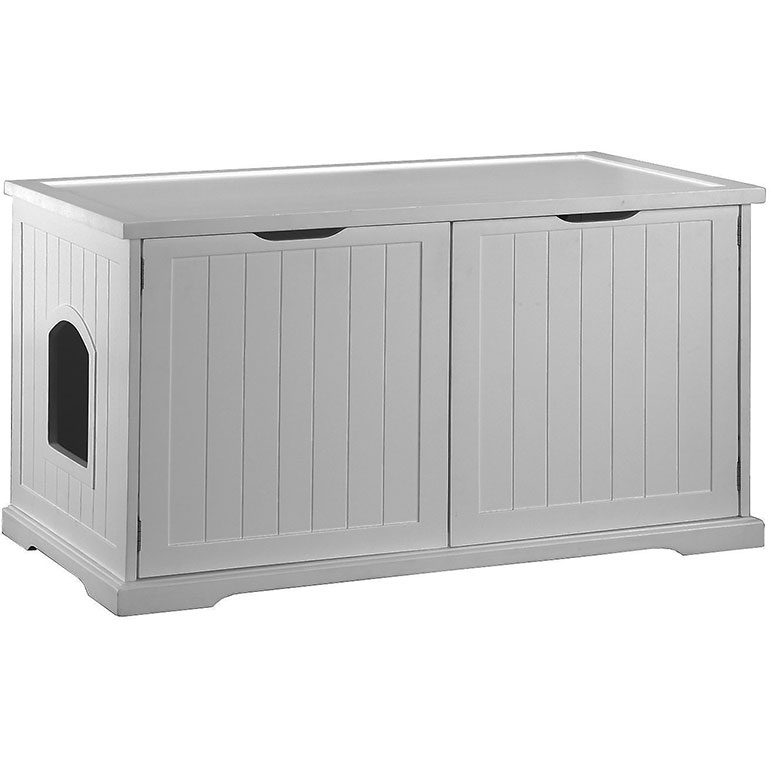 Merry Products Cat Washroom Bench Decorative Litter Box Cover & Storage