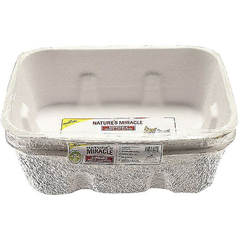 best cat litter box - disposable litter pan from Nature's Miracle