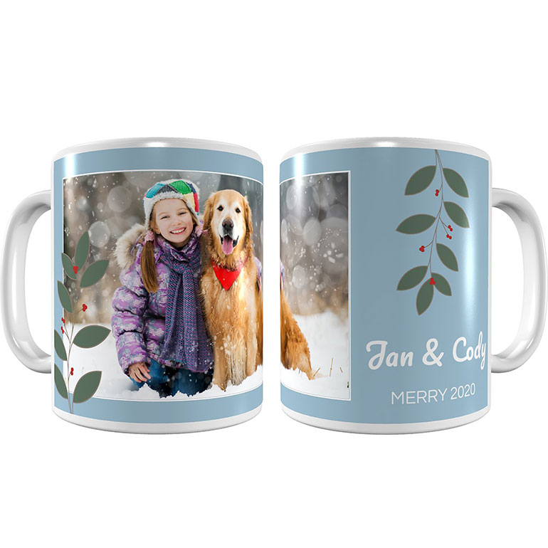 personalized gifts for dog lovers - custom coffee mug with pet photos