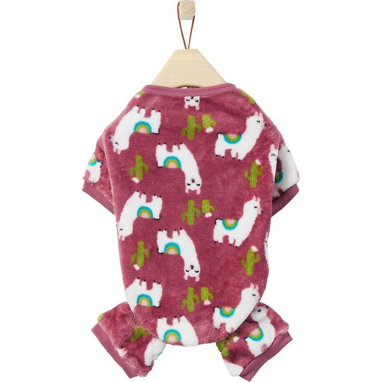 dog onesie pajamas - llamas