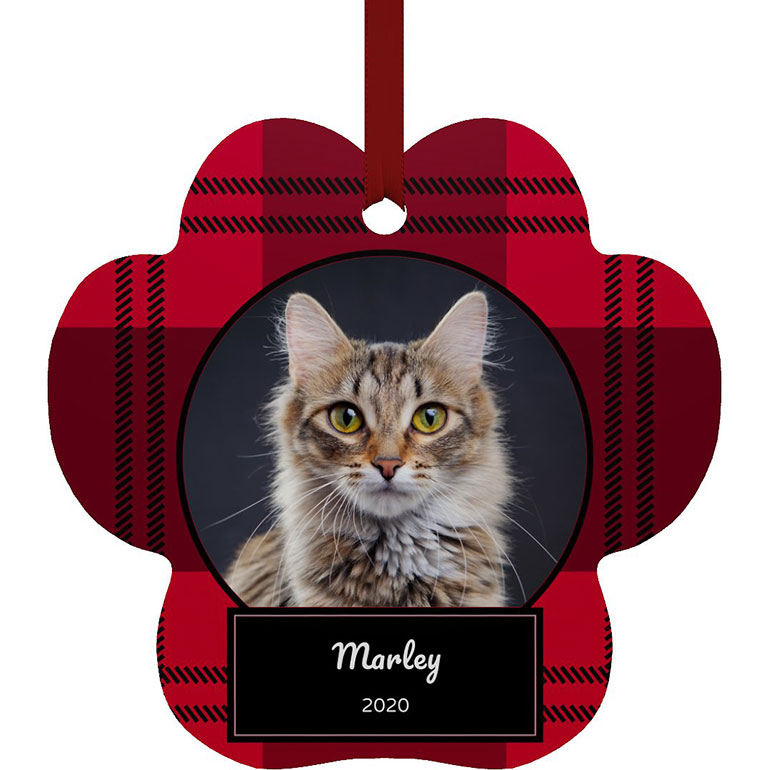 Christmas gifts for cat lovers - cutsom ornament with pet picture