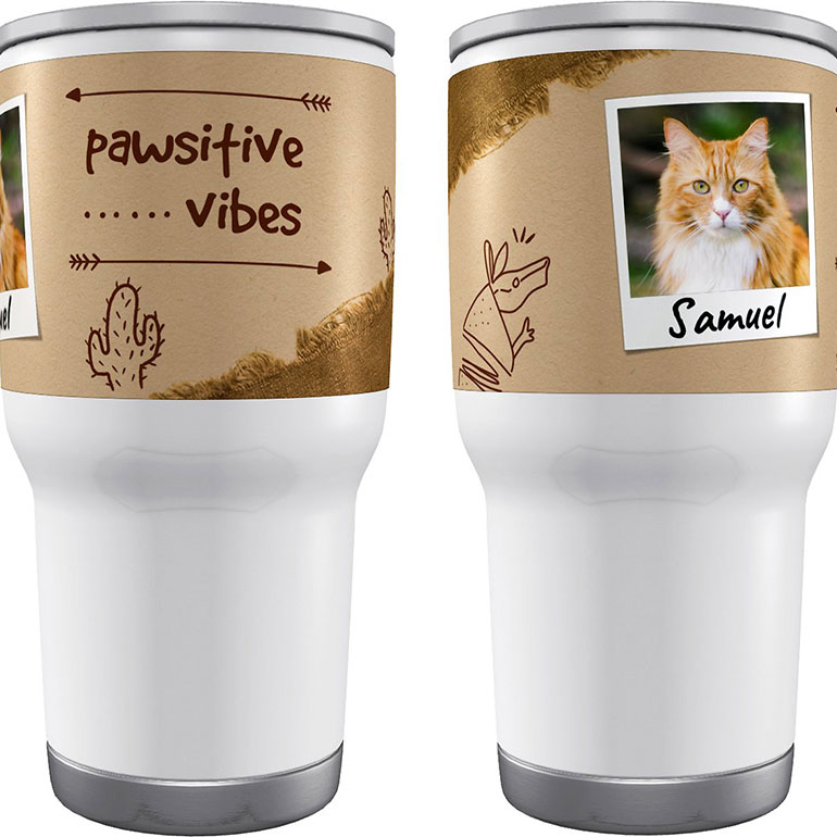 Christmas gifts for cat lovers - custom tumbler