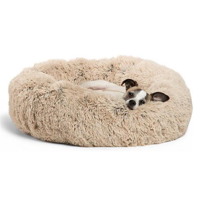 Best Friends by Sheri Calming Shag Fur Donut Cuddler Bed