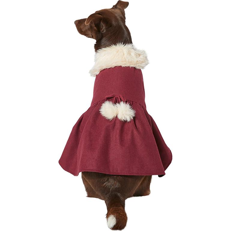 Frisco Pom Pom Bow Peacoat Dress