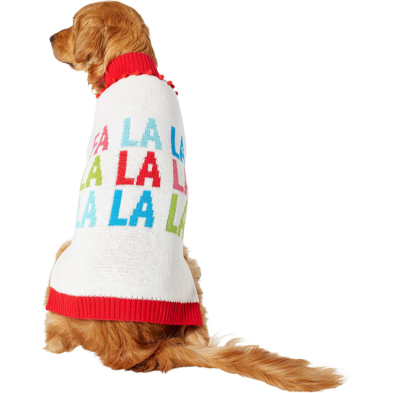 Fa La La Pom Pom Christmas Sweater