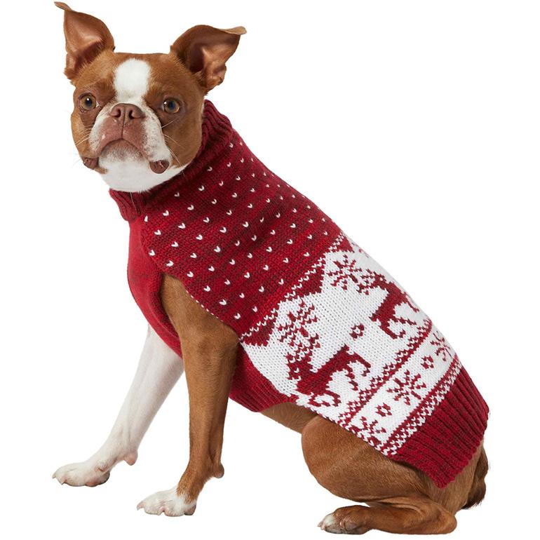 Frisco Deluxe Marled Fair Isle Reindeer Sweater