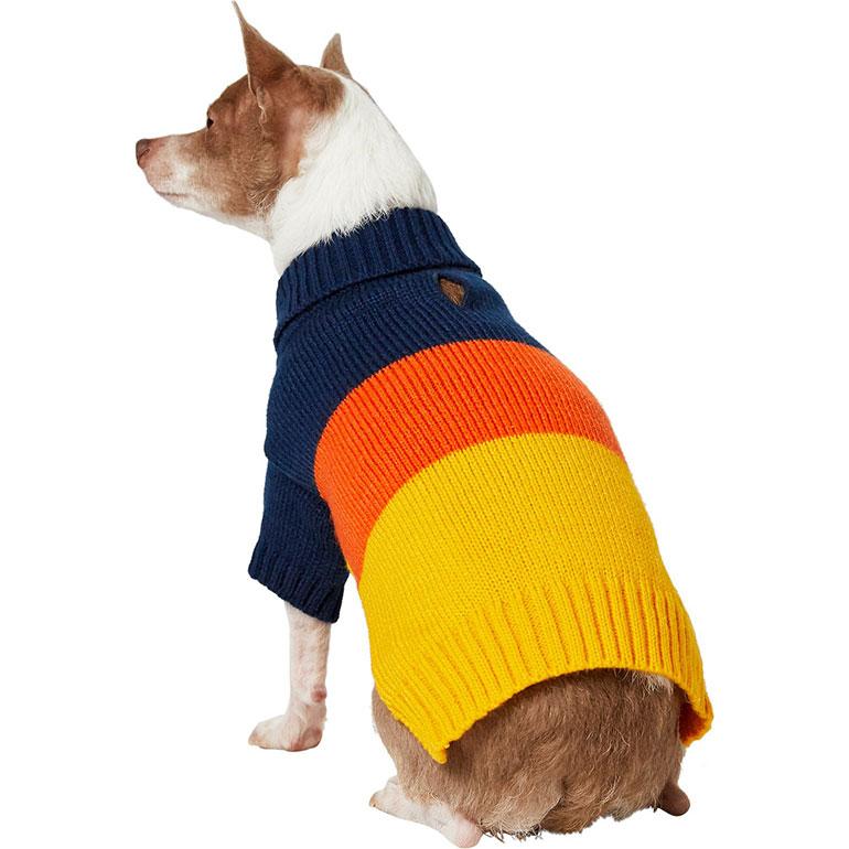 Frisco Colorblock Turtleneck Sweater