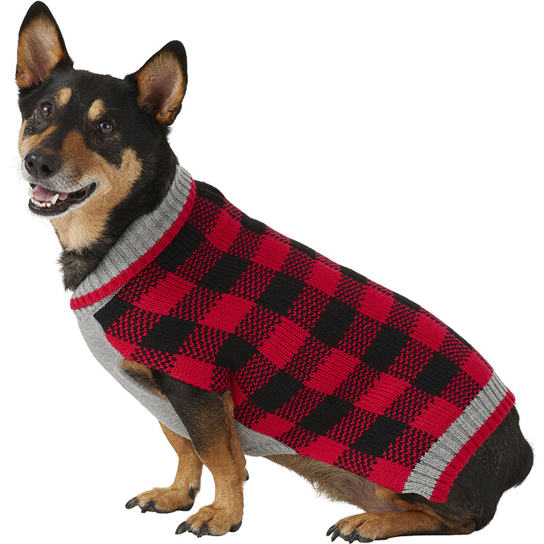 Frisco Buffalo Plaid Dog Sweater